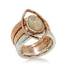 Studio Barse African Opal Tri-Tone Ring