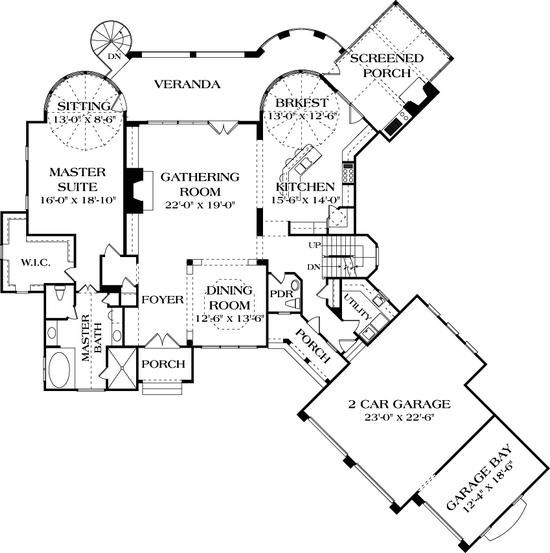 House Plan 3323 00522 Lake Front Plan 5 642 Square Feet 4 Bedrooms 5 Bathrooms House Plans Bathroom Floor Plans Floor Plans