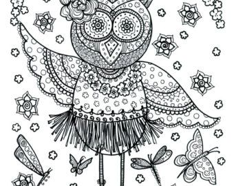 Poster Fairy Art large 11 x 14 Size Coloring page by ChubbyMermaid