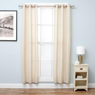 """Home Fashion Design Bridgewater Blackout Curtain Panels Color: Linen, Size: 38"""" W x 63"""" L"""