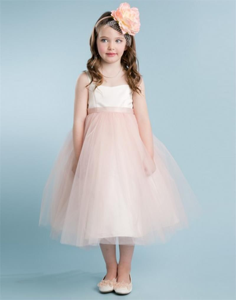 Smart Ivory Satin Bodice And Glitter Tulle Overlay Dress