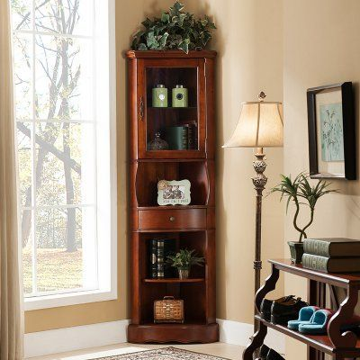 Unique Corner Curio Cabinet Wall Mounted