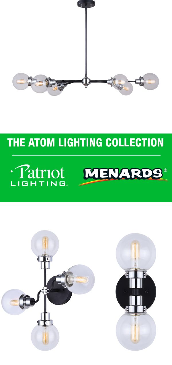 Style your home with our Patriot Lighting® Atom Lighting Collection ...