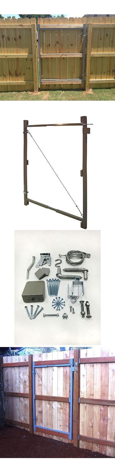 Garden Gates 139948: Steel Gate Frame Kit Garden Fence Adjustable ...
