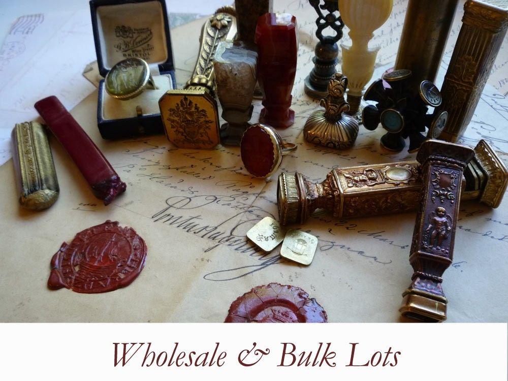 16 Antique Initial Wax Seals