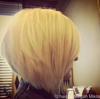 Stacked Bob Haircut for Blonde