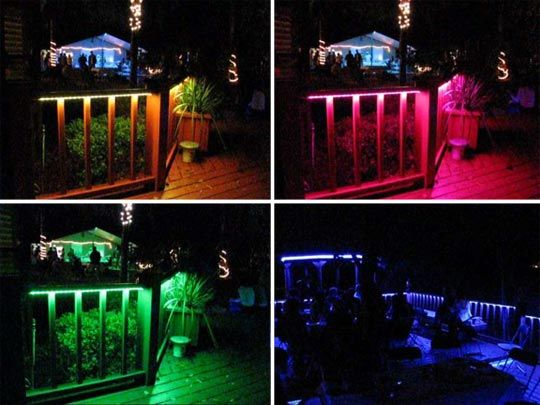 Led rope lighting illuminates outdoor deck rope lighting led rope lighting illuminates outdoor deck aloadofball Images