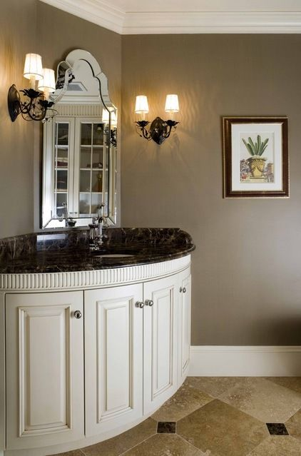 Benjamin moore davenport tan warm with a hint of gray for Warm bathroom colors