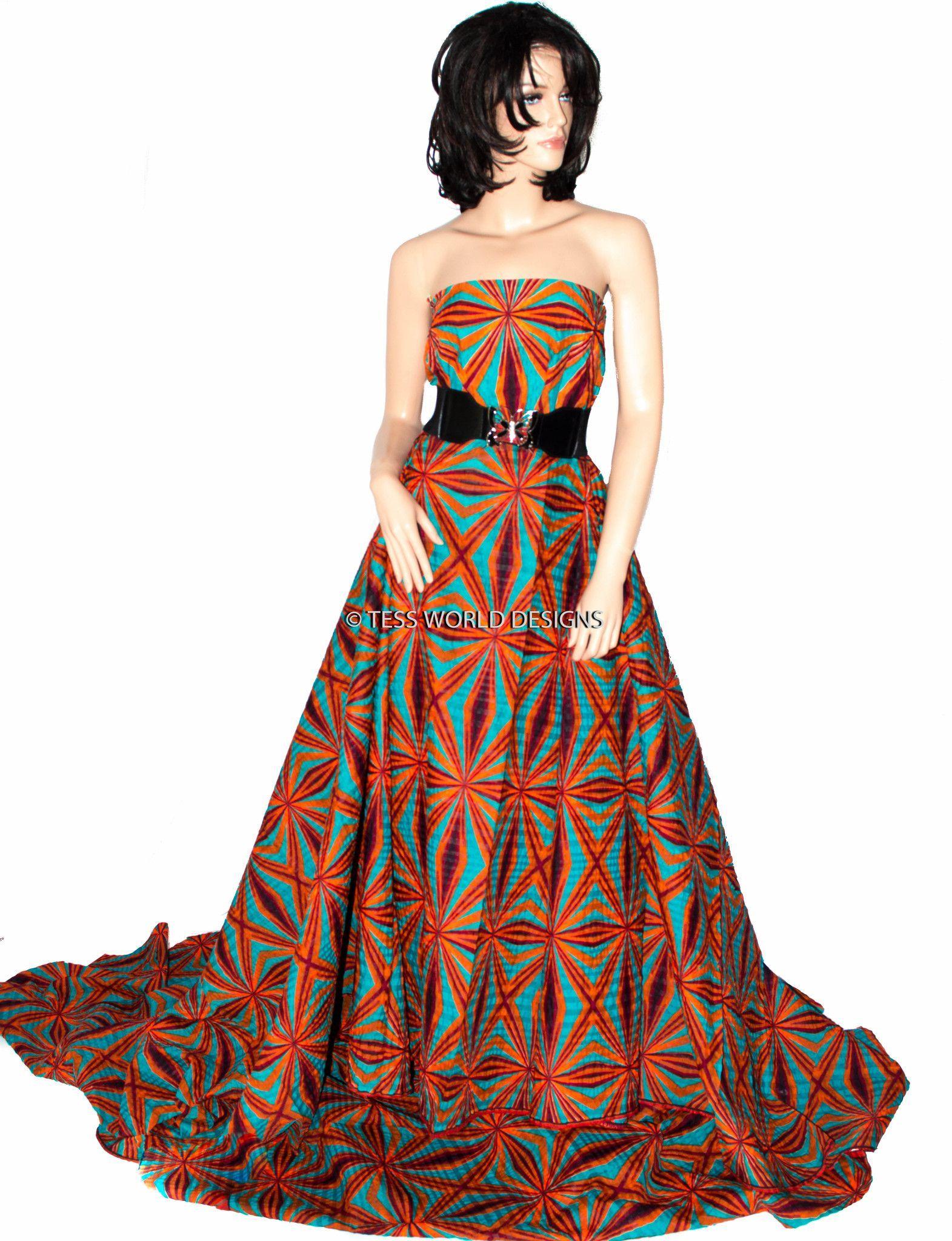 Wp620 Zambian African Print Fabric Abstract Seersucker Tess World Designs