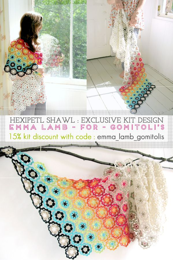 Beautiful Hexipetl #crochet shawl pattern for sale by Emma Lamb ...