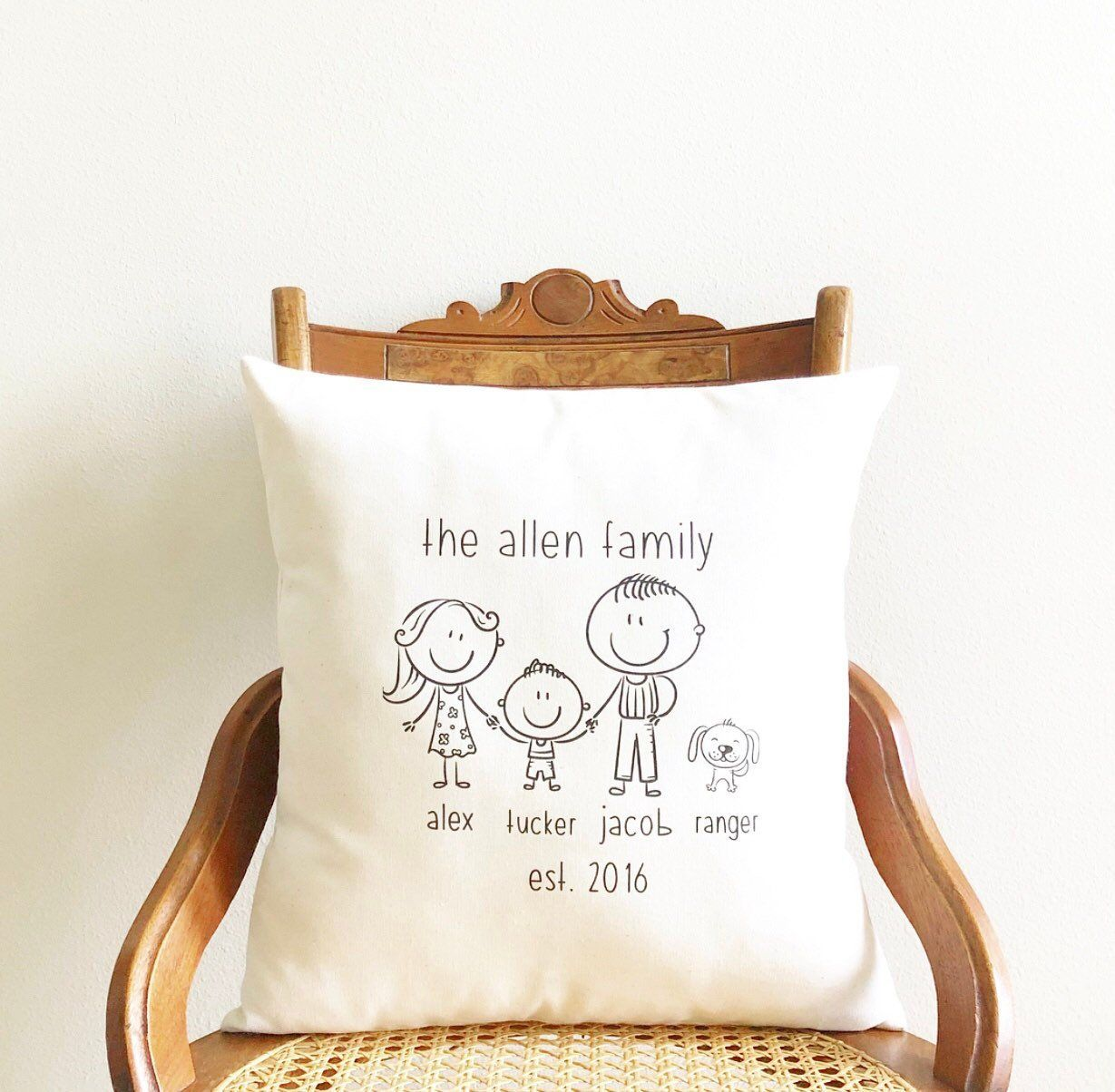 Wedding Gifts For Relatives: Mother's Day Gift, Gift For Mom, Stick Figure Family