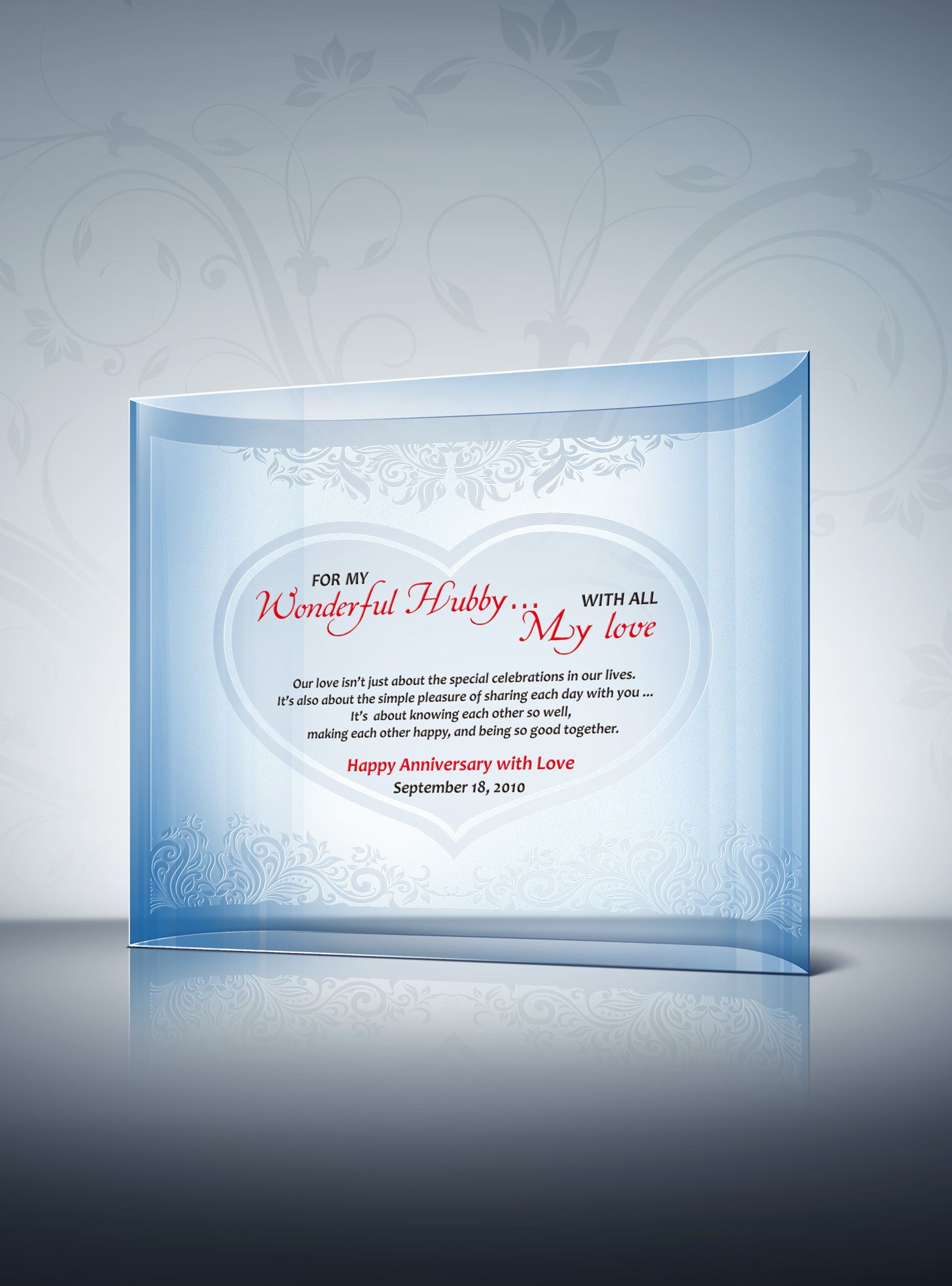 Crystal Anniversary Gift for Lovers Anniversary gifts