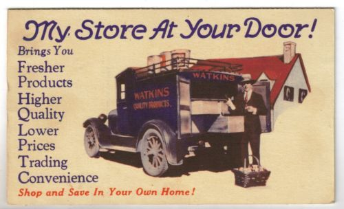 c1930 Watkins Quality Products - Private Mailing Card - Advertising Postcard