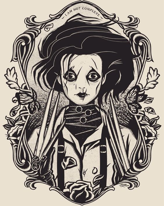 illustrator dave quiggle for crazy4cult 9 gallerie1988 edwardscissorhands timburton