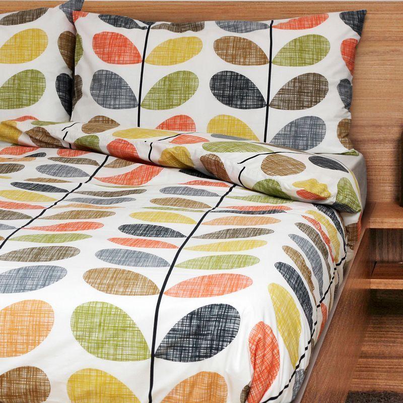Orla Kiely Scribble Stem Wallflower 3 Pc King Duvet Cover Shams Set Multi New In 2020 King Duvet Cover Orla Kiely Bedding Duvet Covers