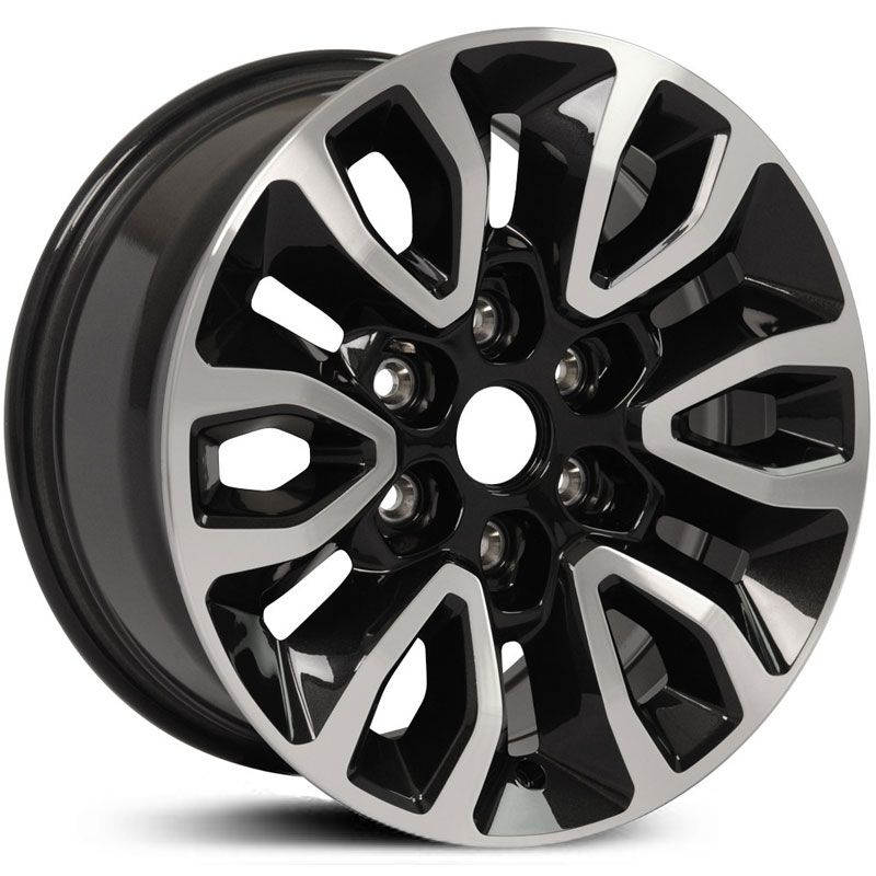 Fits Ford F150 Raptor Style Fr72 Wheels Black Machined Face