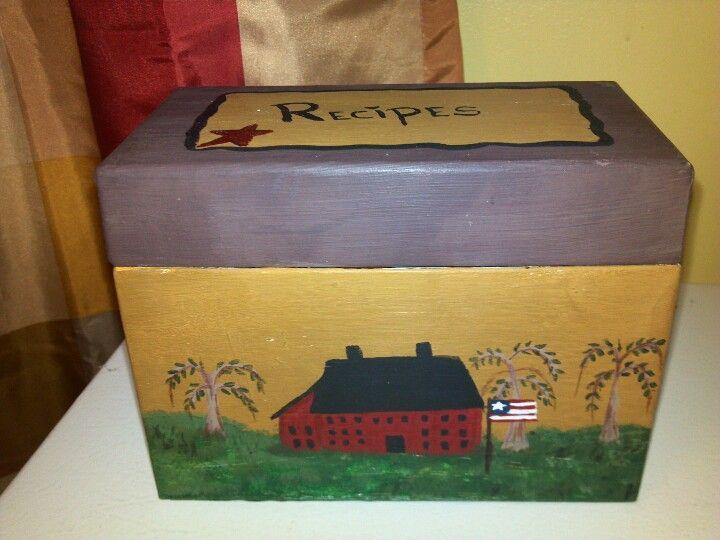 Decorative Recipe Box My Diy Primitive Recipe Box Diy Primitives For Our New Home