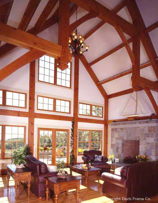 Timber Frame Great Rooms By Davis Frame Company Great Rooms Timber Frame Timber House