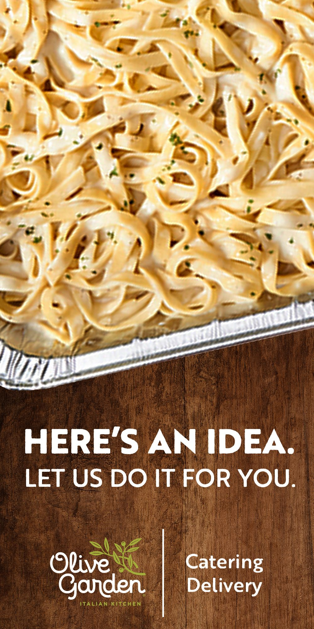 Leave the work to Olive Garden this holiday season when
