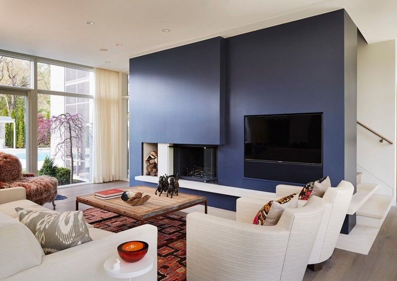 Feuer und Wärme Kamine in 53 Design-Ideen - wohnzimmer ideen kamin