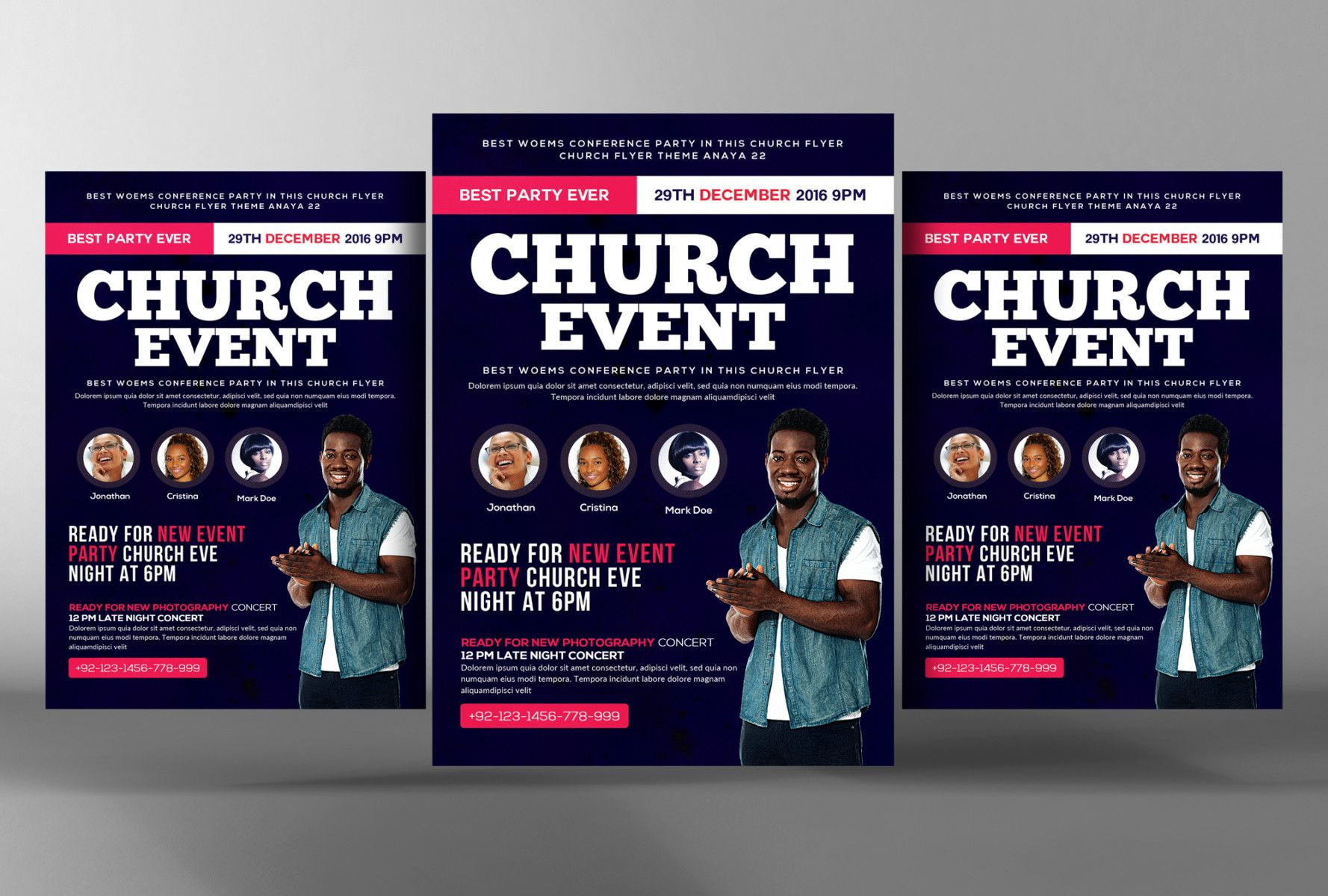 Pin By GraphiccloudNet On  Church Flyer Templates For Events