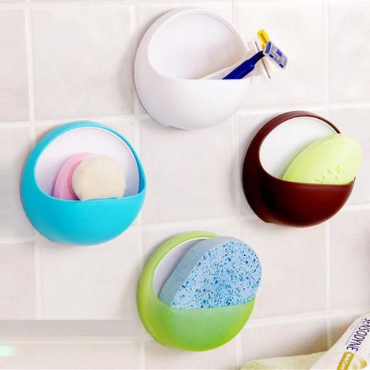 Toilet Suction Cup Holder Bathroom Shower Soap Dish Tray Wall Sink Sponge Plastic China Bathroom Shower Accessories Shower Accessories Plastic Box Storage