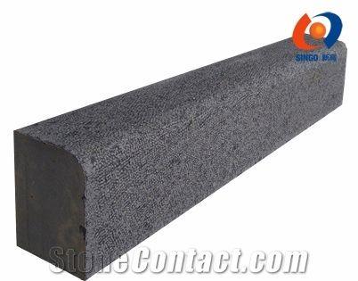 Perfect Mongolia Black Basalt Kerbs/Curb Stone With Bush Hammered Surface   Xiamen  Singo Import