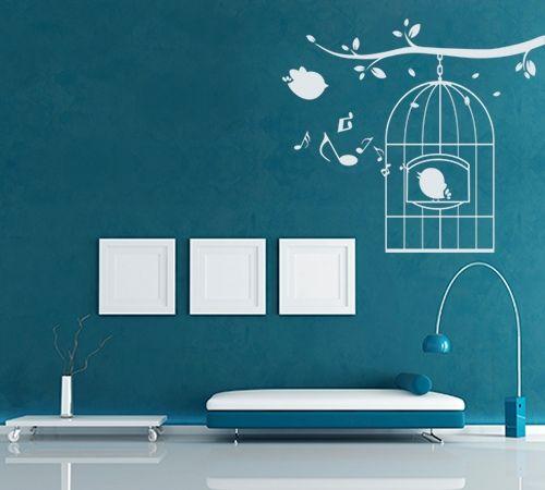 Bird Nest Wall Design For Teal Living Room Jpg 500 450 Room Wall Painting Wall Paint Designs Bathroom Paint Design