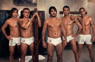 Italian Soccer Players in Dolce Gabbana.... More world cup facts!
