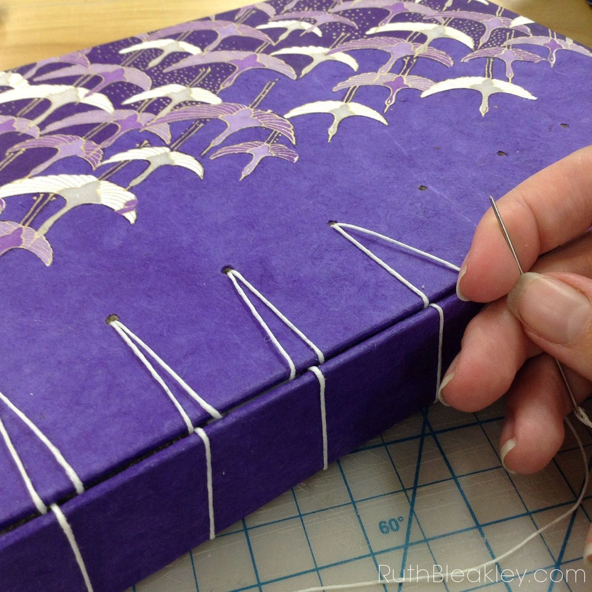 Secret Belgian binding book workshop taught by Holly Fouts - 5