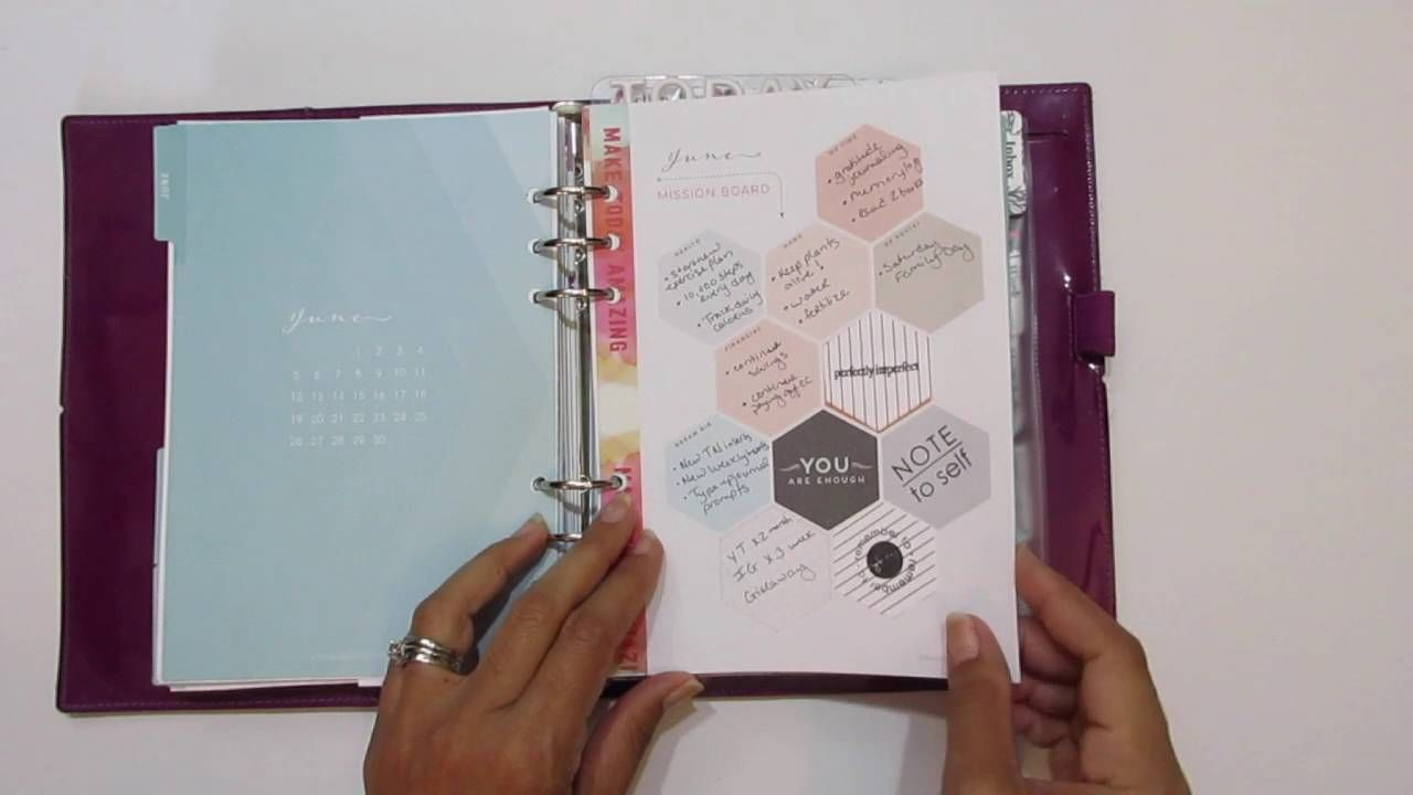 YouTube: Planner Flip Through: January to July 2016