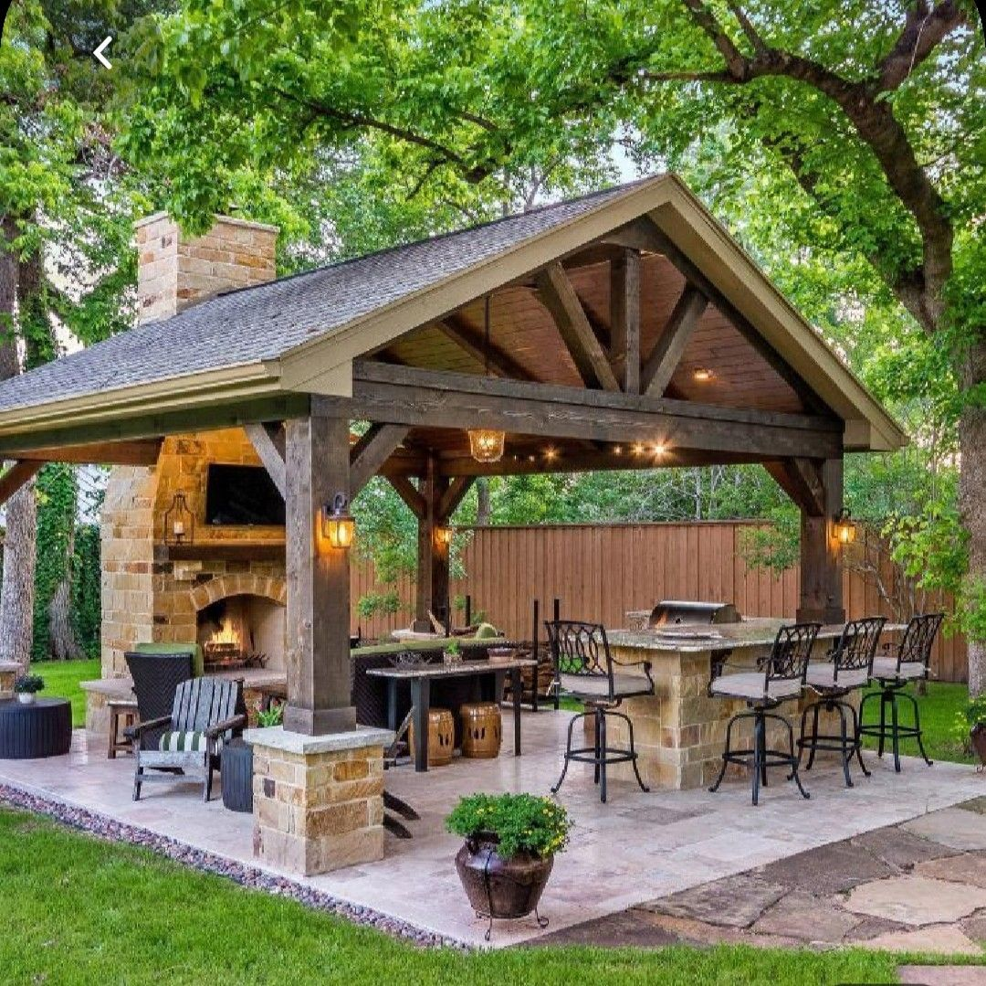 Pin By Cindy Paden On Buiten Outdoor Areas In 2020 Backyard Pavilion Outdoor Patio Decor Patio Gazebo