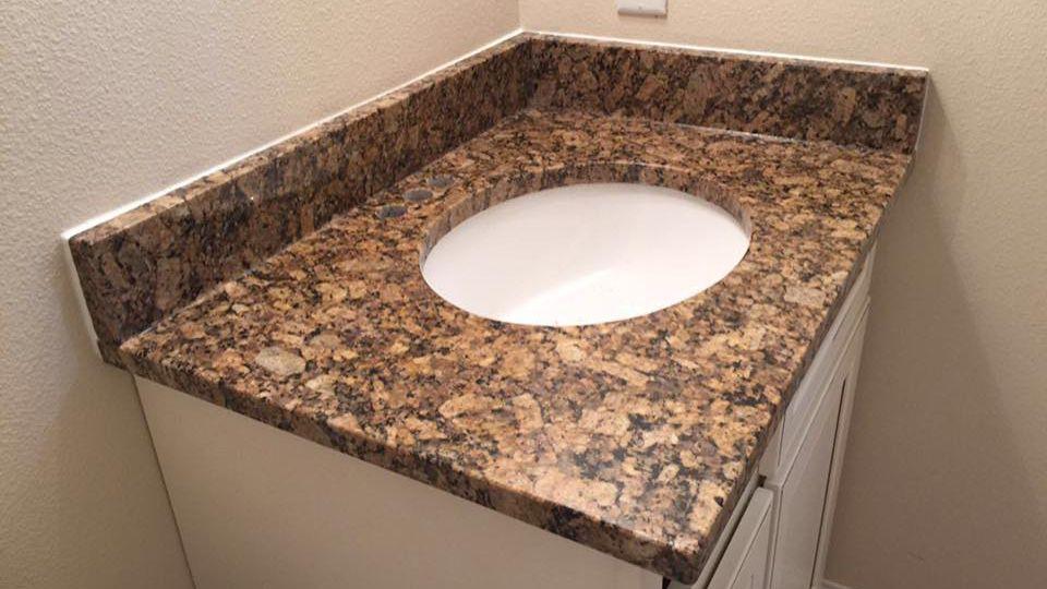 supply giallo cheap prefab granite countertop