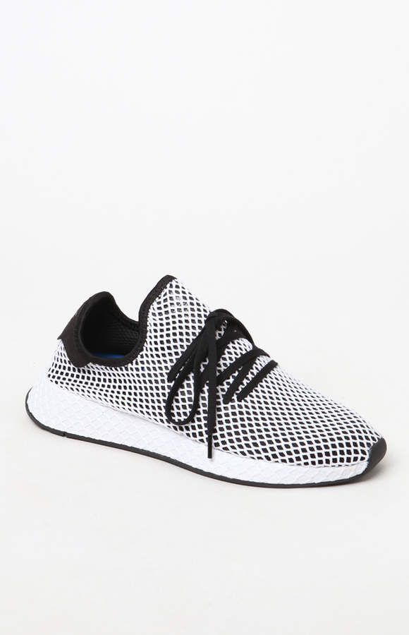 save off 7ff22 b6c3b adidas Black and White Deerupt Runner Shoes