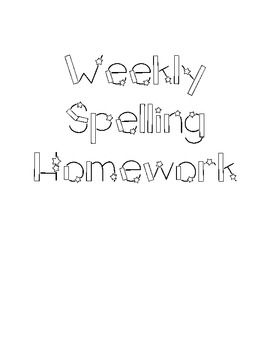 Differentiated Weekly Spelling Homework for Primary Grades