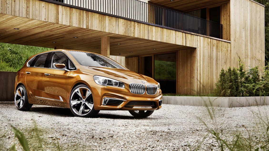 Golden BMW Concept Active Tourer - Free Image Download - High ...  #conceptualarchitecturalmodels Pinned by www.modlar.com
