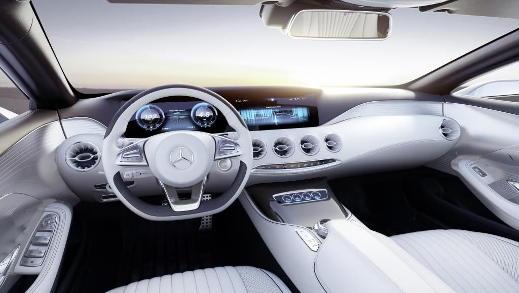 Mercedes Benz S Class Coupe Concept Interior 3 Mercedes Concept