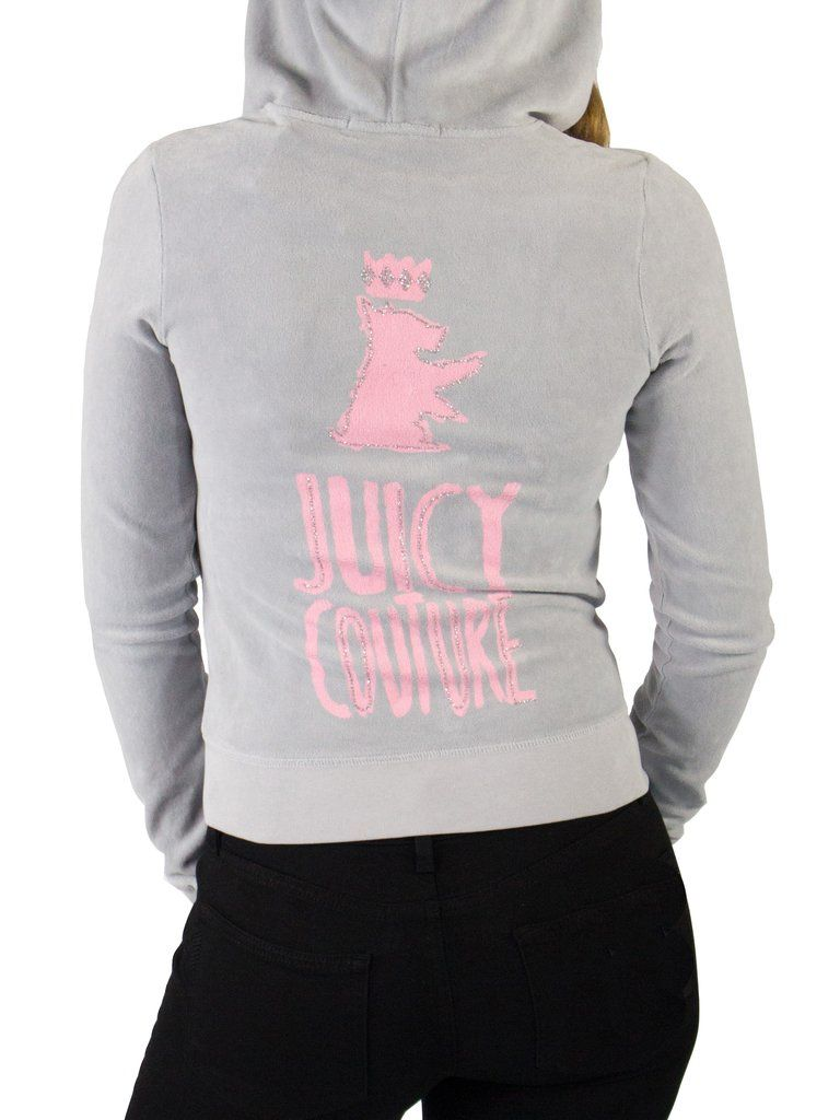 Juicy Couture Logo Velour Original Jacket - The Mercantile - Juicy Couture  - Designer Clothes - Women s Fashion - Hoodies - Long Sleeve 2ee25be21a