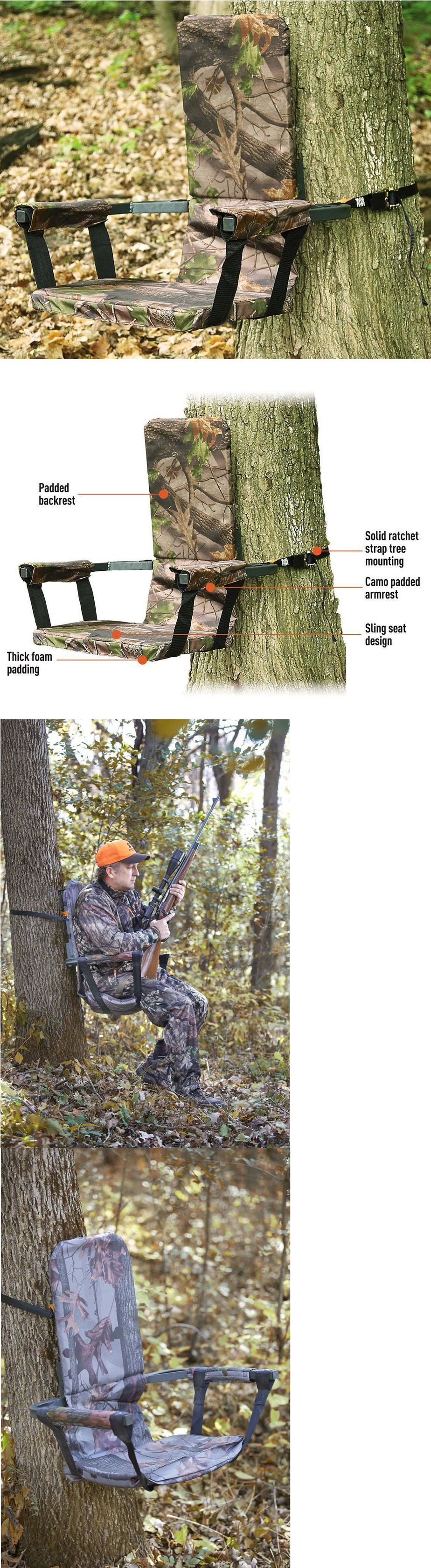 Seats and Chairs Thick Foam Hunting Tree Seat Camo Deer