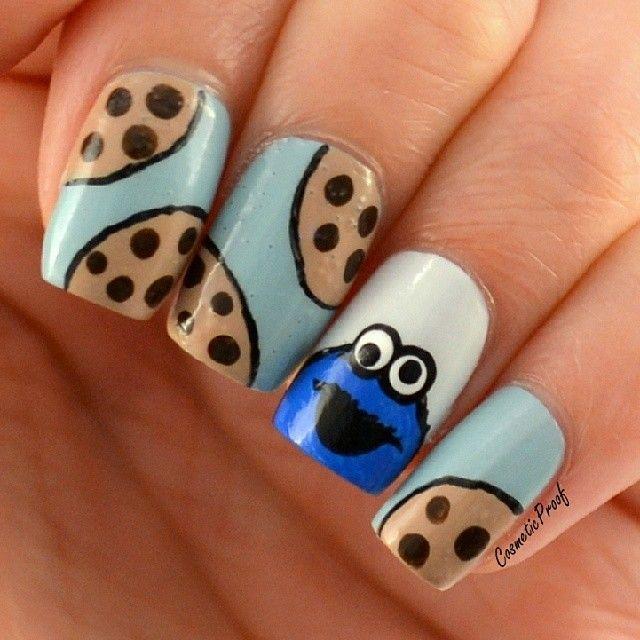 Cookie Monster childhood memories | Manicuras | Pinterest | Diseños ...