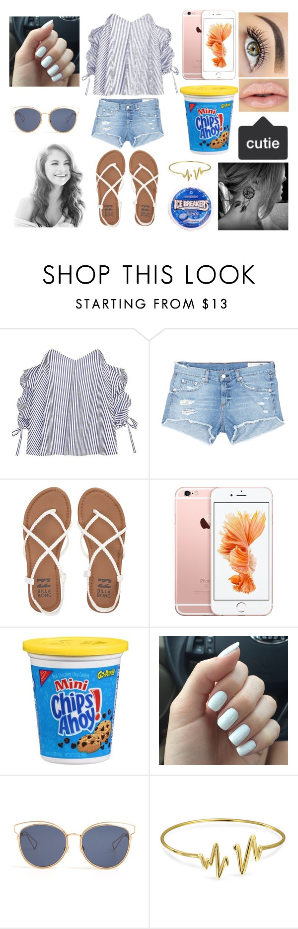 """Im Suppose to be sleeping but i decided to make a set XD"" by jasloves5sos ❤ liked on Polyvore featuring Caroline Constas, rag & bone/JEAN, Billabong, CO, Christian Dior and Bling Jewelry"