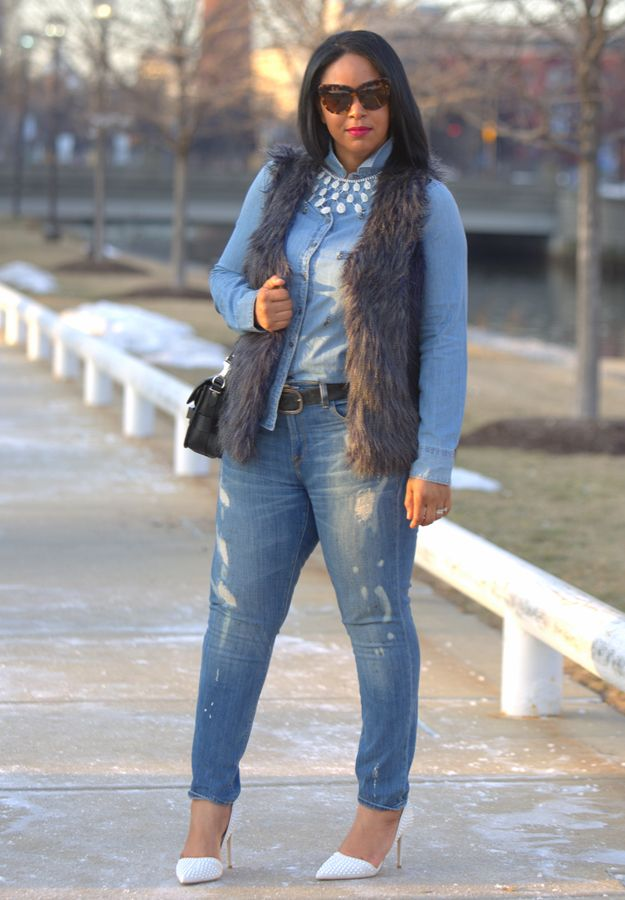 4bbc0c68f Canadian Tuxedo (With a Twist) - What I'm Wearing: H&M Teardrop ...