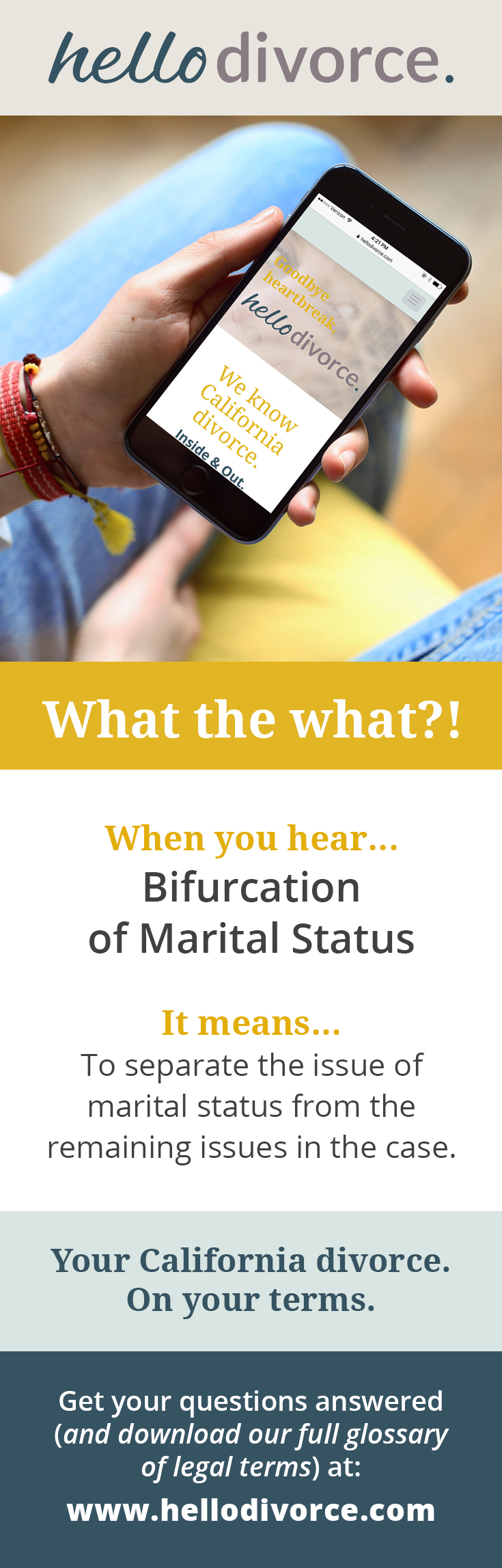What Does Bifurcation Of Marital Status Mean Legalese Can Be So Hard To Understand That S Why We Created A Glossary T Divorce Divorce Forms Divorce And Kids