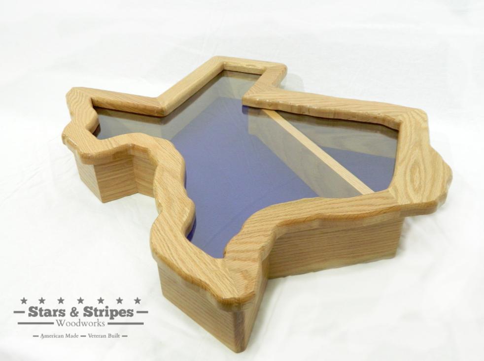 Texas State Retirement Case Military Shadow Box Shadow Box Hardwood Options