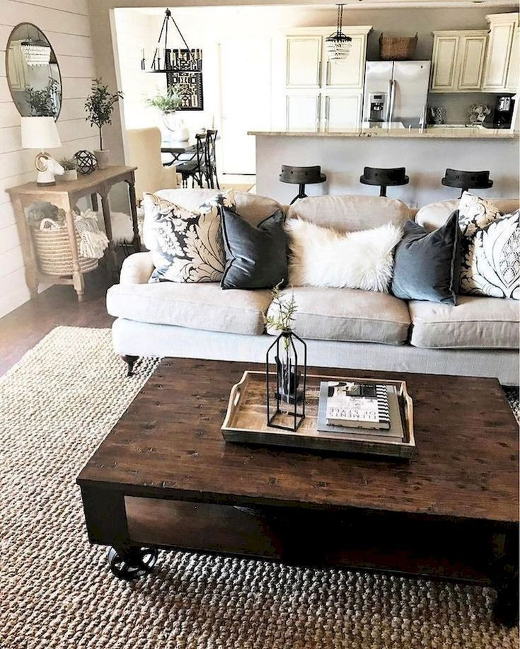 60 Comfy Farmhouse Living Room Designs To Steal Decorating ideas