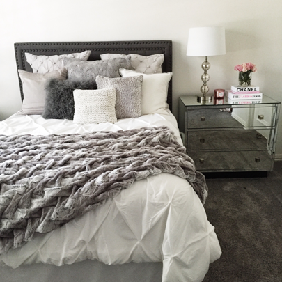 Liketoknow It More Gray Bedroom Furniture Decor White Comforter