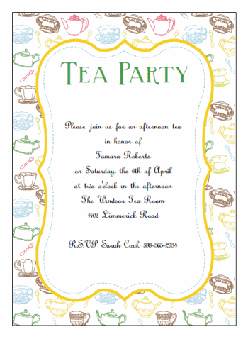 picture about Free Printable Tea Party Invitation Templates named printable tea celebration invites Women Tea inside 2019 Tea
