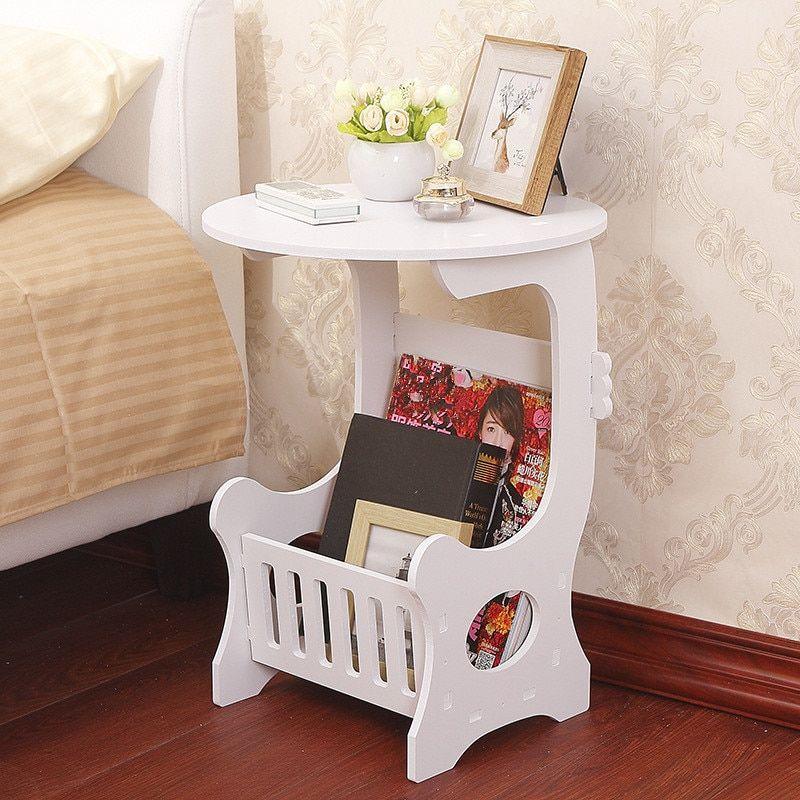 Mini plastic round coffee tea table home living room