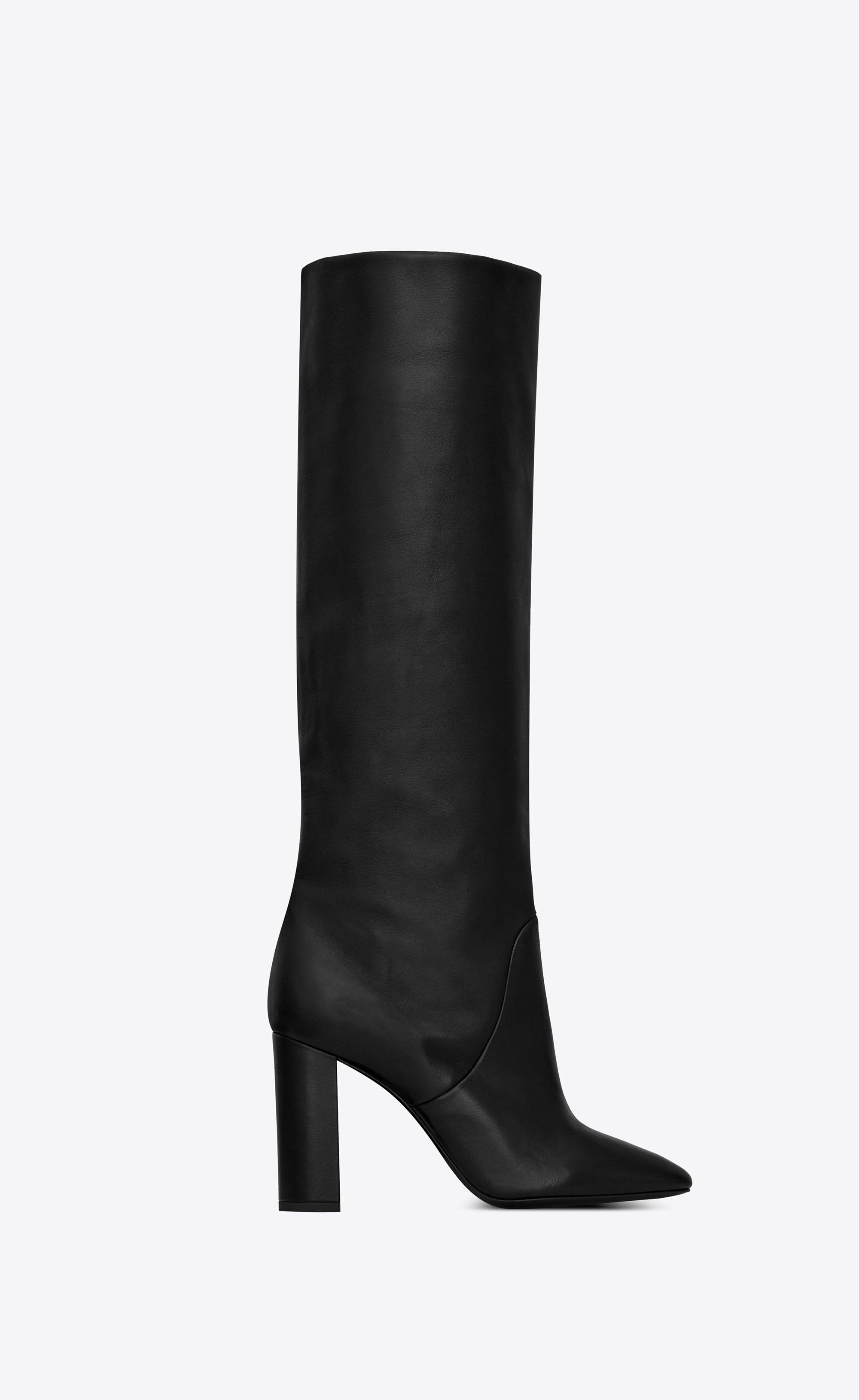 0fbd6c990e Saint Laurent - Lou boot in black lambskin ($1,995) | BOOTS in 2019 ...