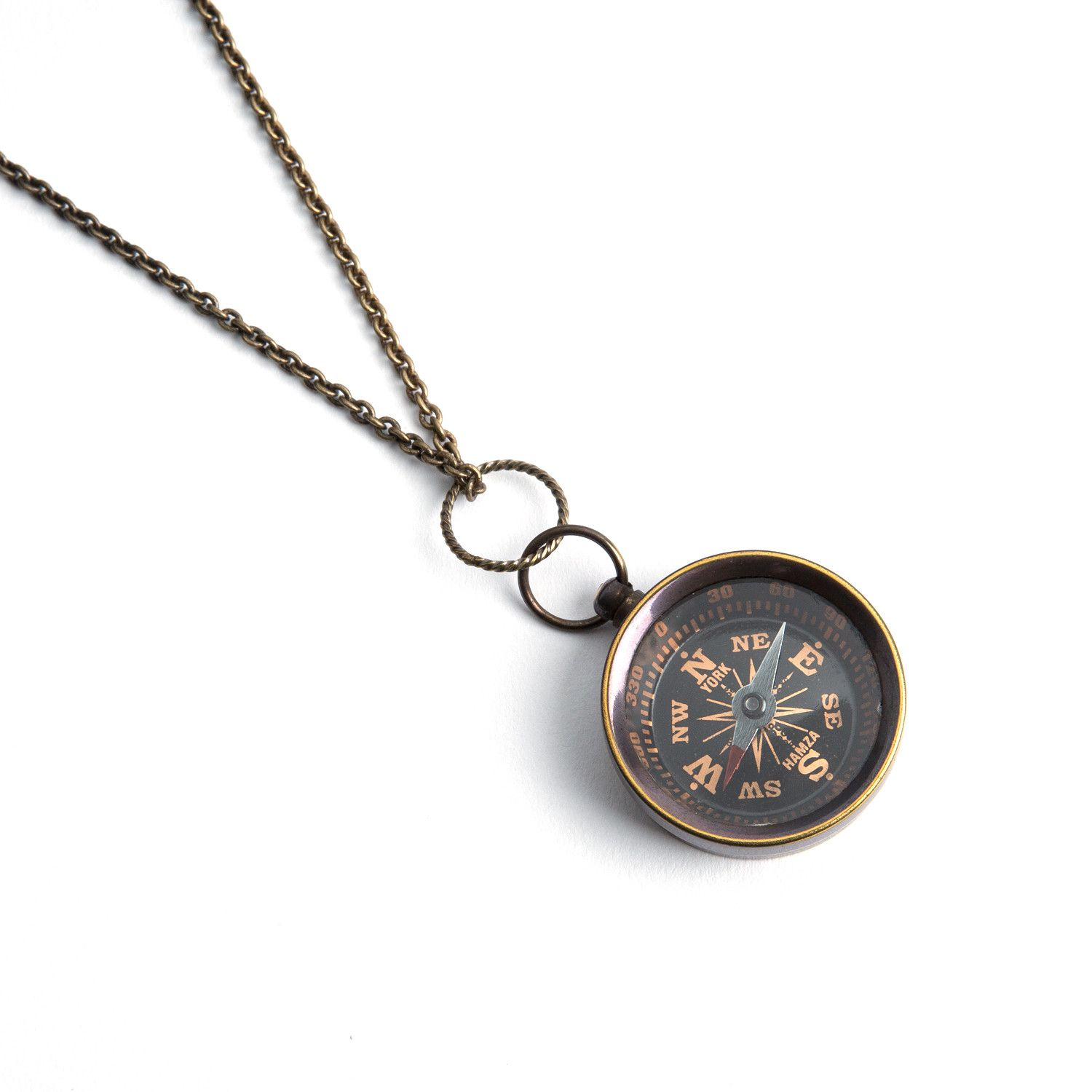 "Miniature Compass Necklace (18"")"